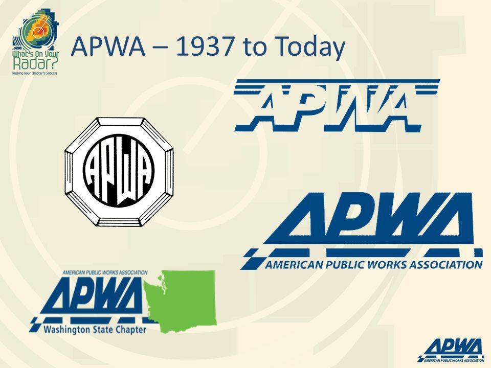APWA – 1937 to Today