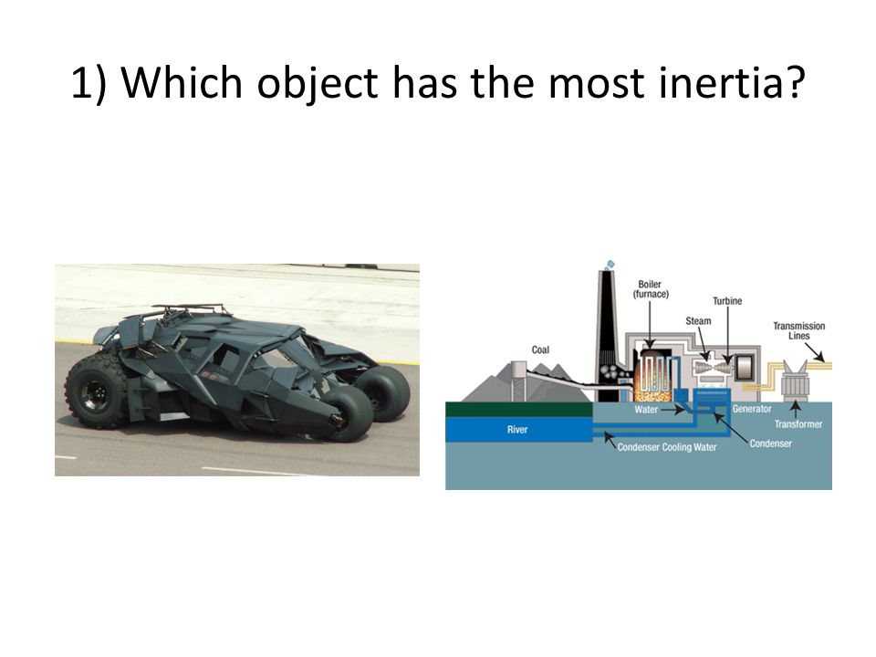 2) Which object has the most momentum?