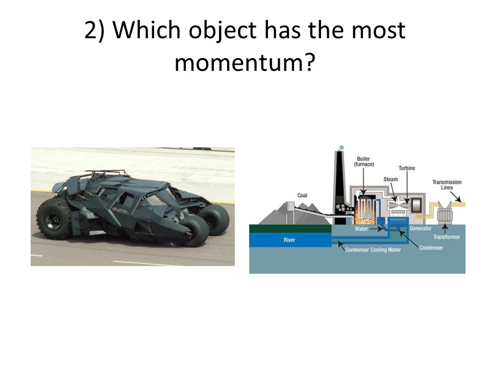 3) Which object has the most inertia?
