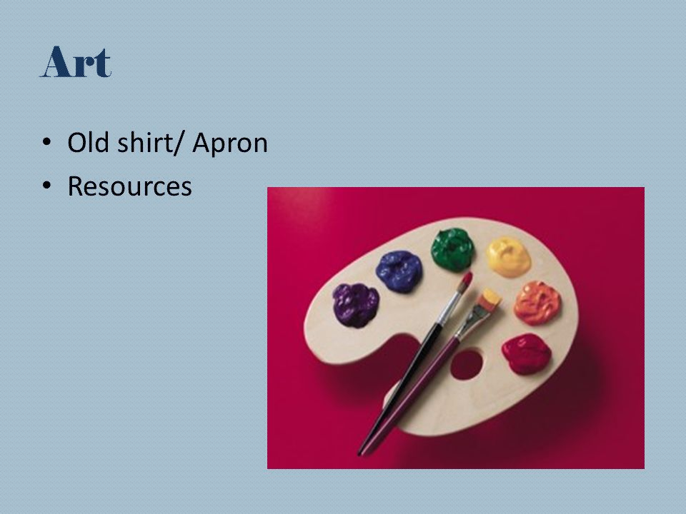 Art Old shirt/ Apron Resources