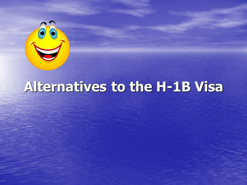 Alternatives to the H-1B Visa