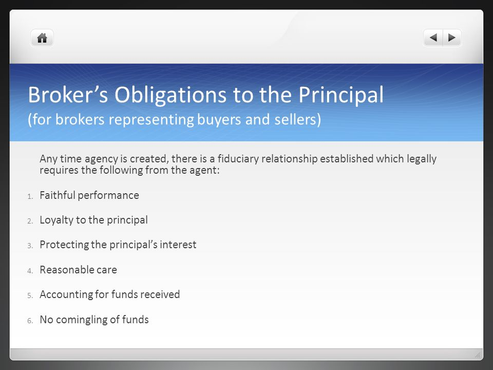 Brokers Obligations to Third Parties 1.Lead-based paint disclosure 2.