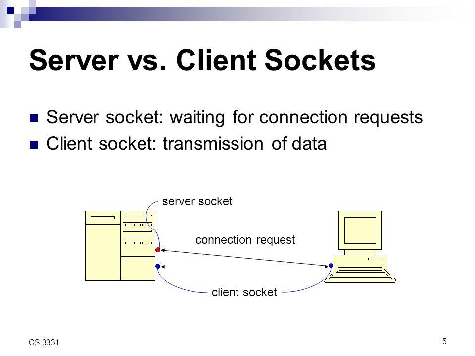 5 CS 3331 Server vs.