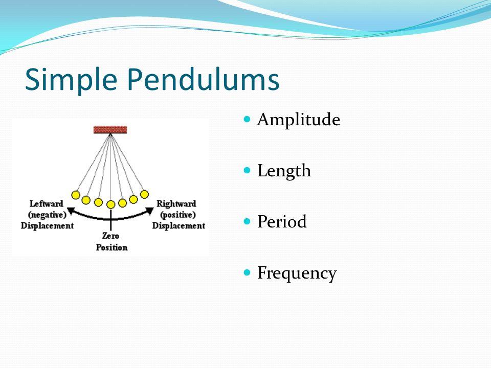 Simple Pendulums