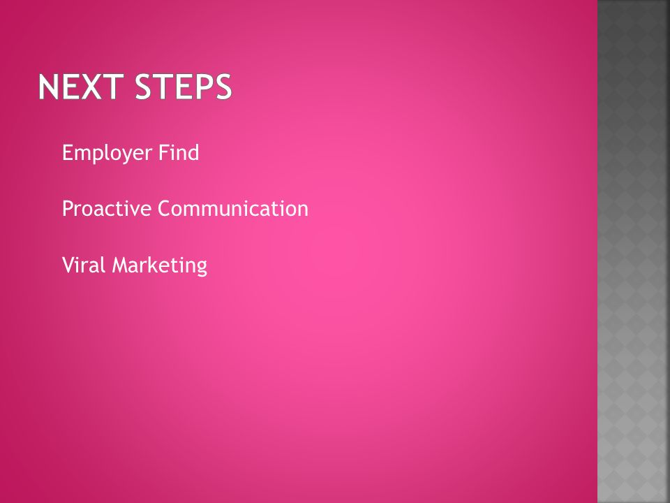 Employer Find Proactive Communication Viral Marketing