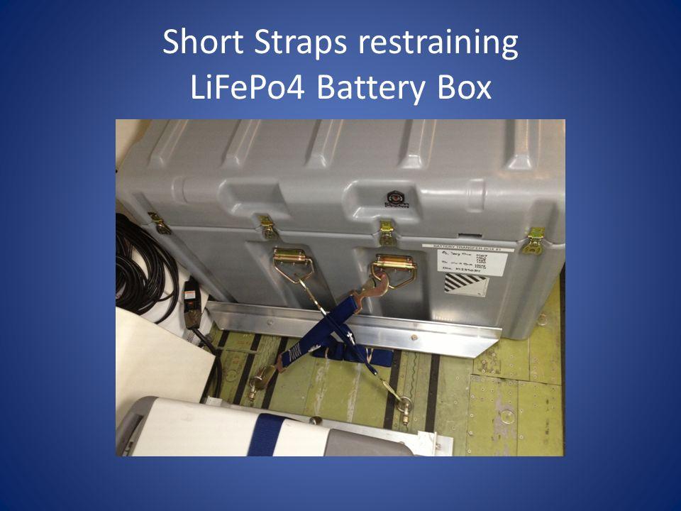 Short Straps restraining LiFePo4 Battery Box
