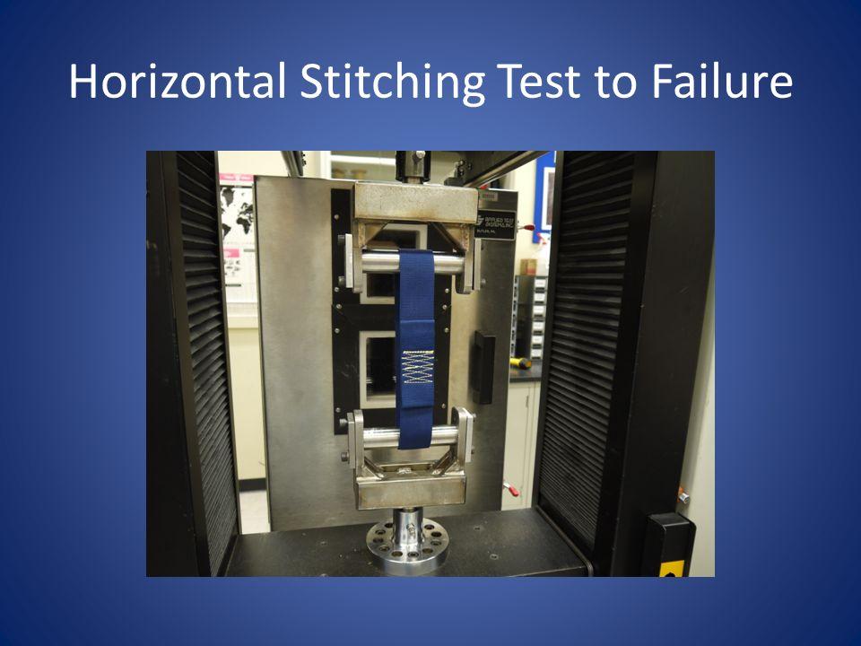 Horizontal Stitching Test to Failure