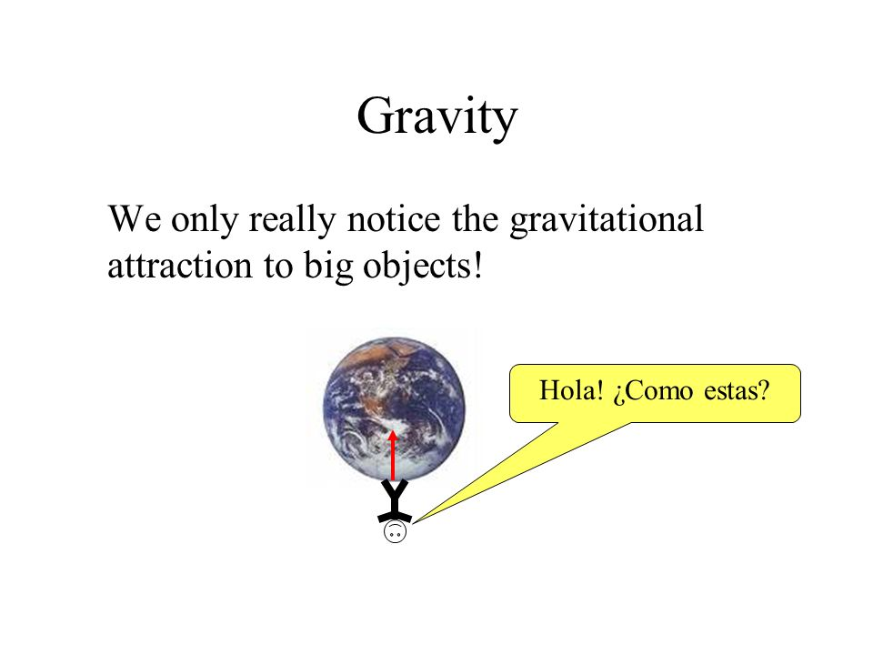 Gravity The force of gravity on something is called its weight.