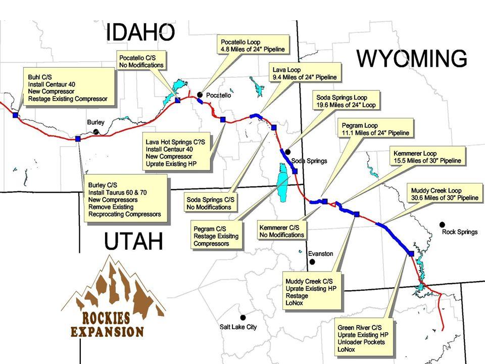 WHO is Opal? TAKE-AWAY CAPACITY: Interstate Pipelines (MMcf/d) 1) CIG/El Paso 150 2) Kern River 1,500 3) Northwest 600 (West) 250 (South) TOTAL 2,500