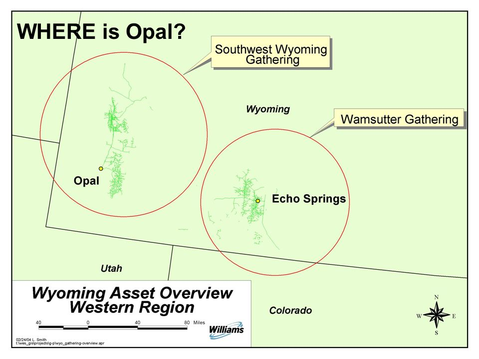 Opal Plant Overview Presented to the Wyoming Pipeline Authority March 23, 2004