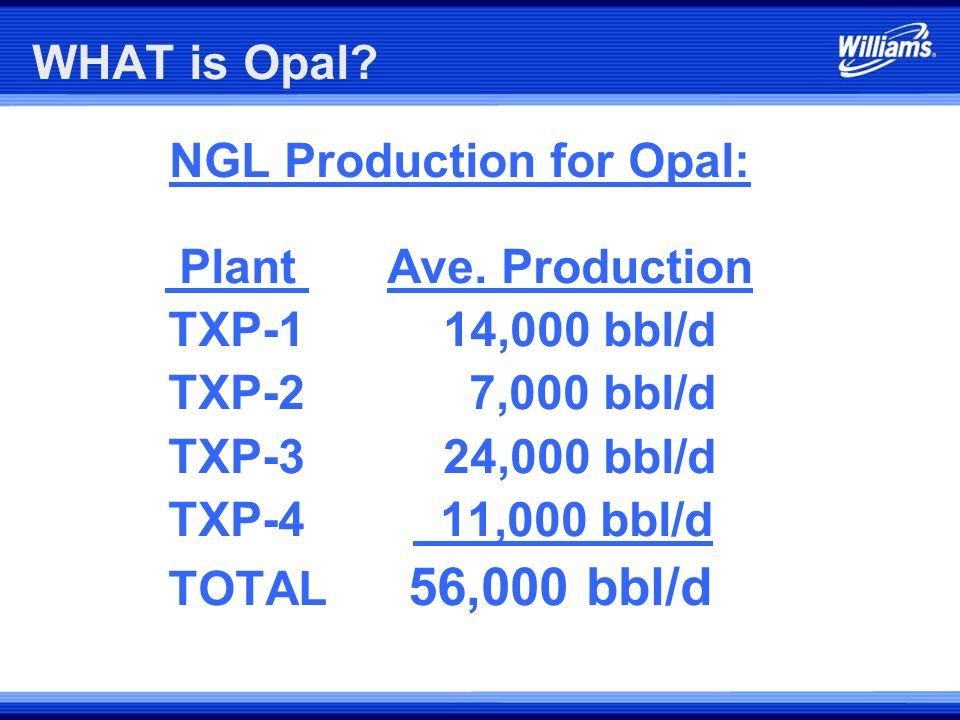 WHAT is Opal? Distribution of Throughput Capacity