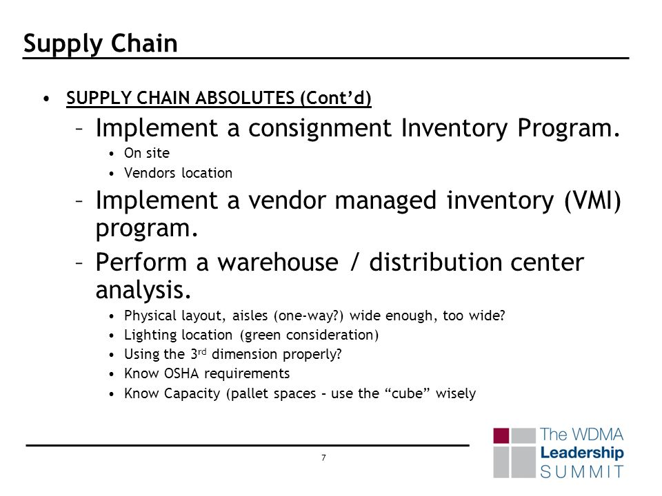 17 Supply Chain APPENDIX (Contd) –Managing the Bill of Materials –Reporting on How We Did –Cost / Benefit Analysis –Cost Containment / Reduction / Tracking –Cost of Materials in Future –The CPI (Consumer Price Index) –SGA / GA Expenses –WHT Bio