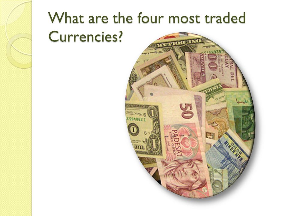 What are the four most traded Currencies?
