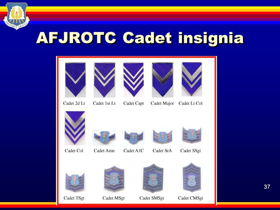 37 AFJROTC Cadet insignia