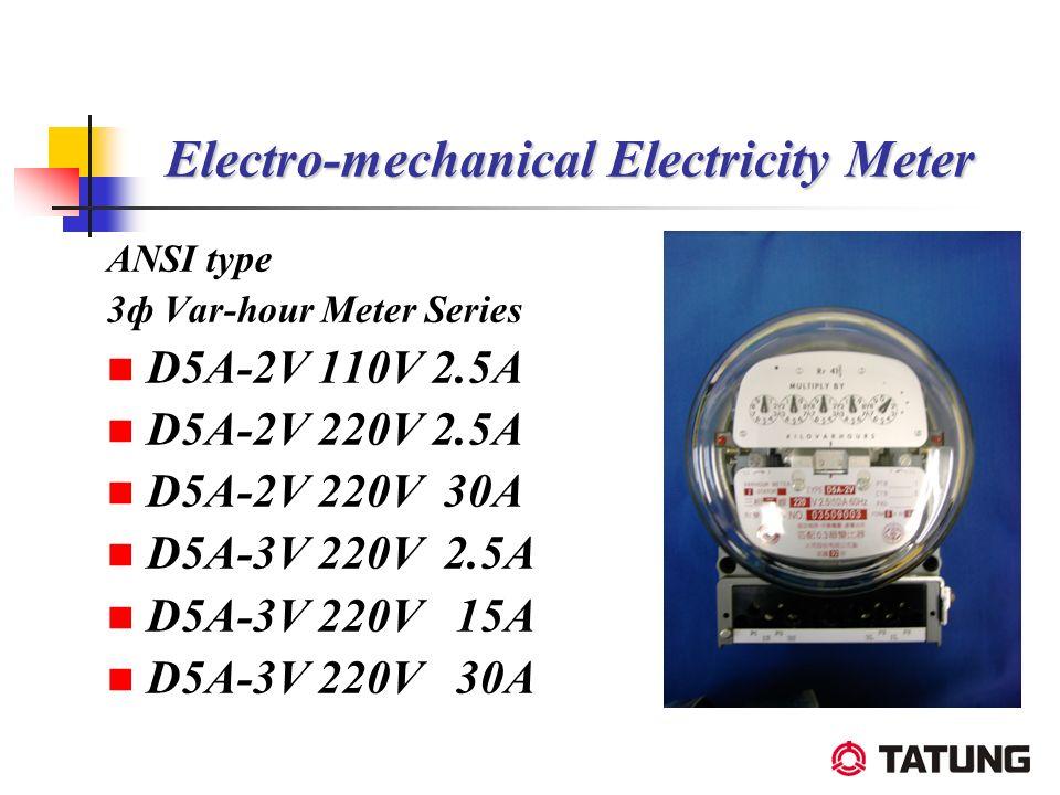 Electro-mechanical Electricity Meter ANSI type 3ф Var-hour Meter Series D5A-2V 110V 2.5A D5A-2V 220V 2.5A D5A-2V 220V 30A D5A-3V 220V 2.5A D5A-3V 220V