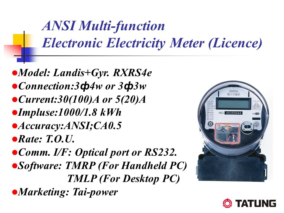ANSI Multi-function Electronic Electricity Meter (Licence) Model: Landis+Gyr. RXRS4e Connection:3 ф 4w or 3 ф 3w Current:30(100)A or 5(20)A Impluse:10