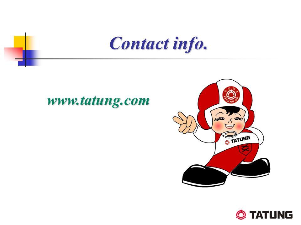 www.tatung.com Contact info.