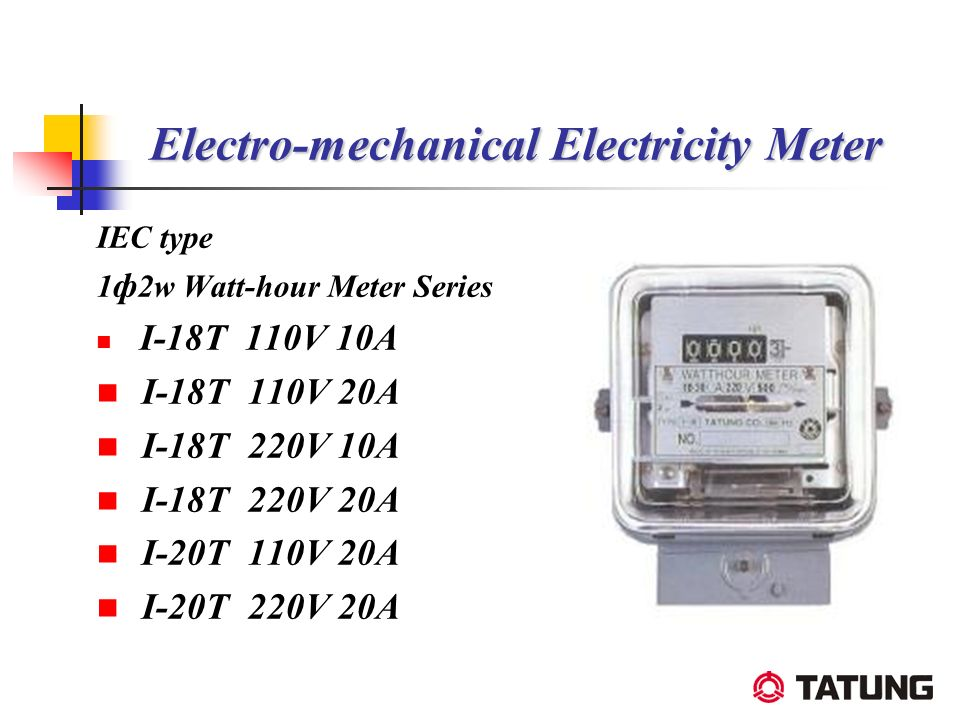 Electro-mechanical Electricity Meter IEC type 1 ф 2w Watt-hour Meter Series I-18T 110V 10A I-18T 110V 20A I-18T 220V 10A I-18T 220V 20A I-20T 110V 20A