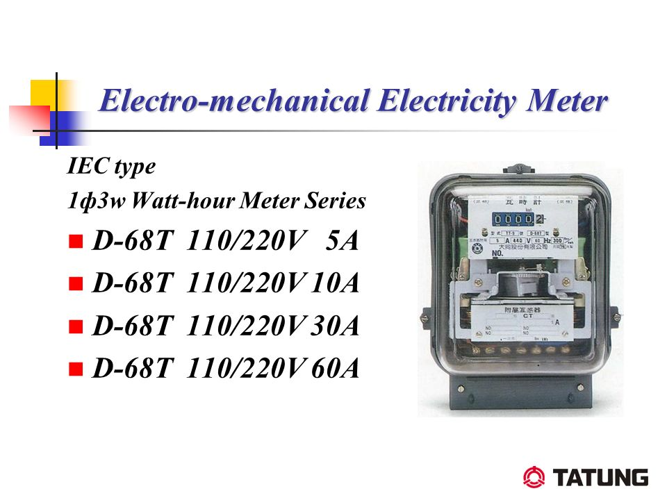 Electro-mechanical Electricity Meter IEC type 1ф3w Watt-hour Meter Series D-68T 110/220V 5A D-68T 110/220V 10A D-68T 110/220V 30A D-68T 110/220V 60A