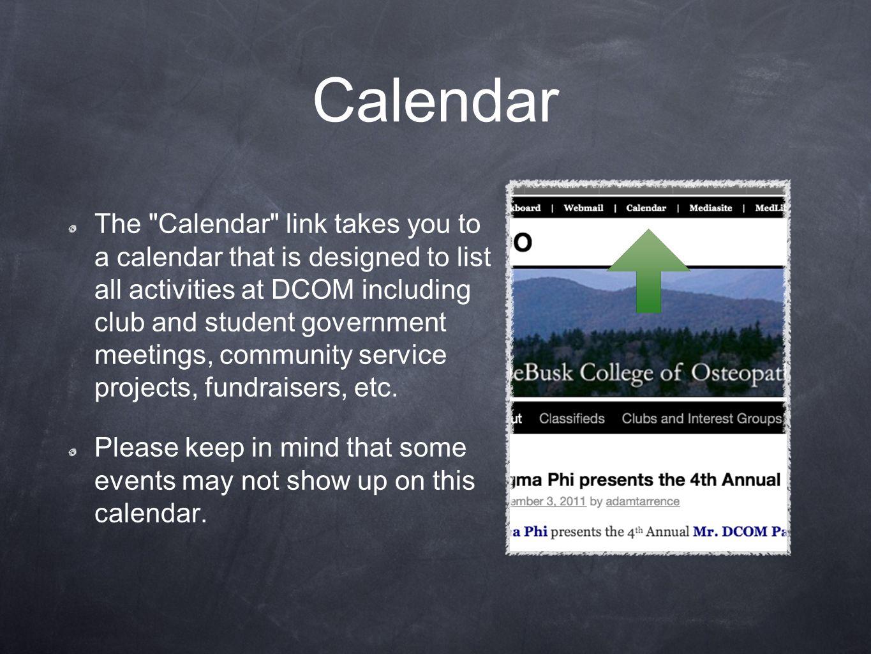 Calendar The