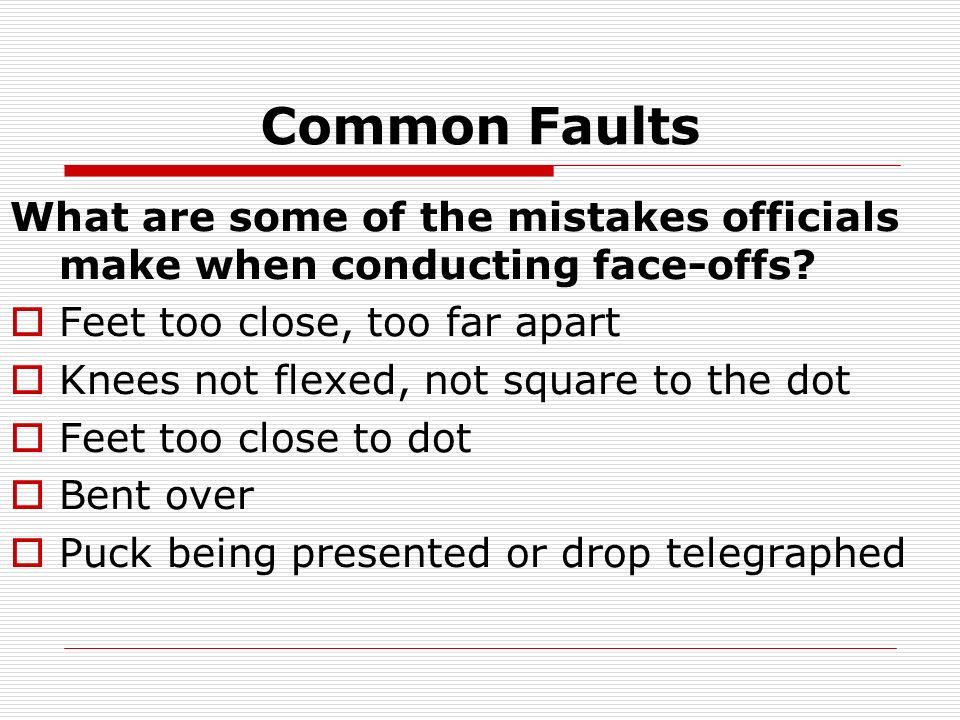 Spot the Faults