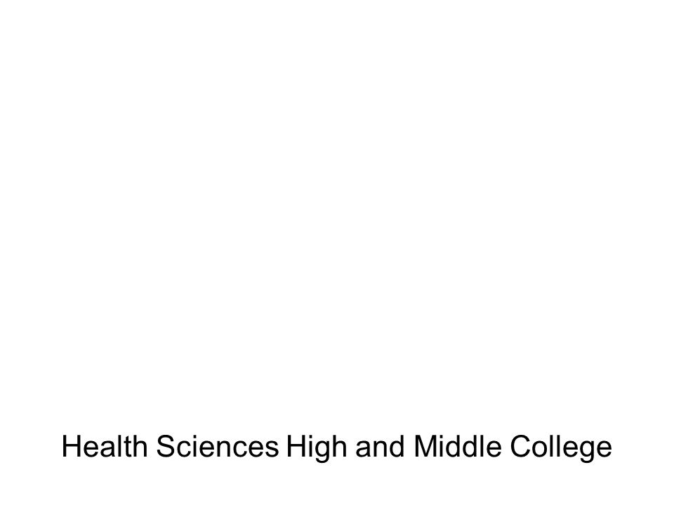 Health Sciences High and Middle College