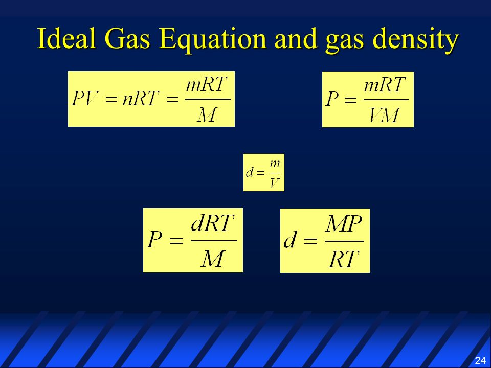 24 Ideal Gas Equation and gas density