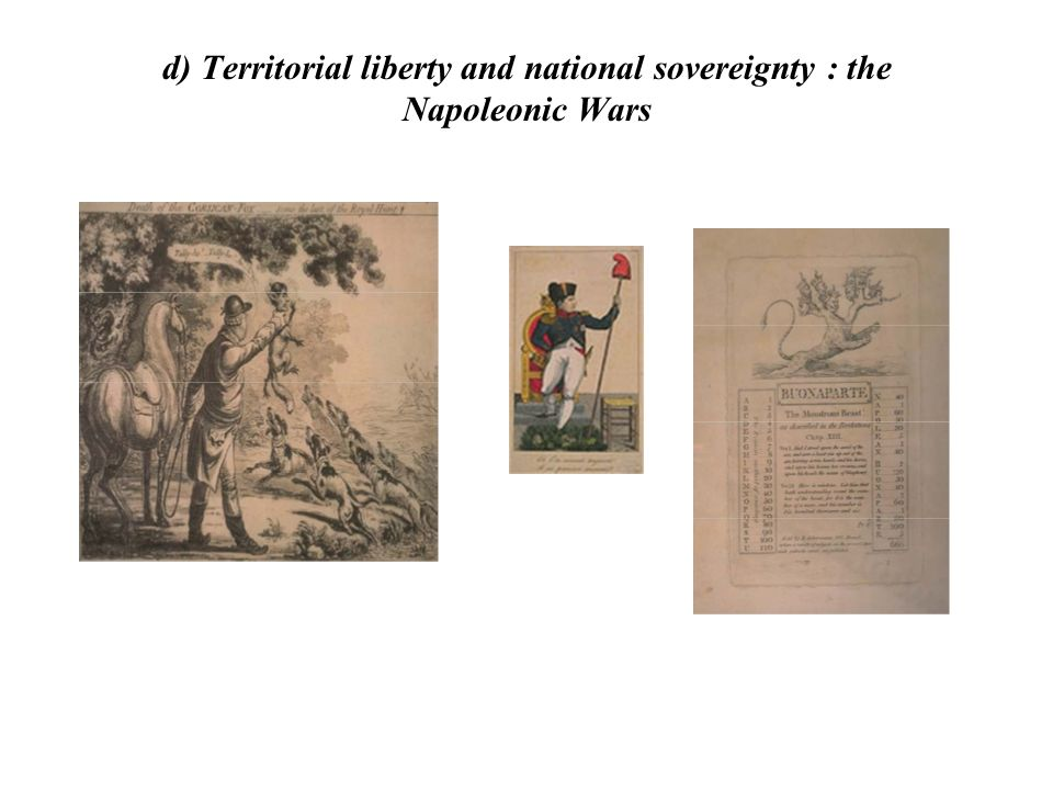 d) Territorial liberty and national sovereignty : the Napoleonic Wars