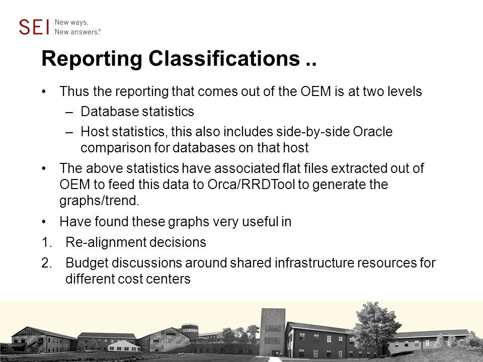 Reporting Classifications..