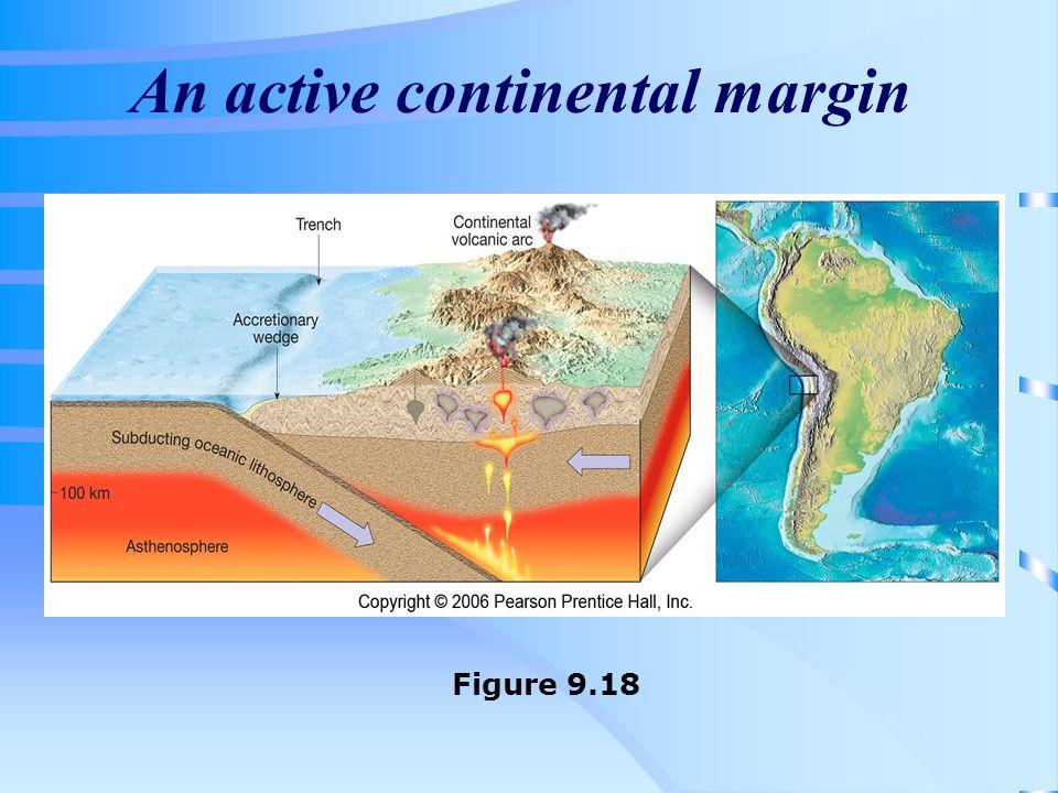 An active continental margin Figure 9.18