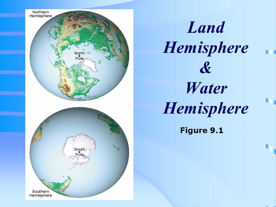 Land Hemisphere & Water Hemisphere Figure 9.1