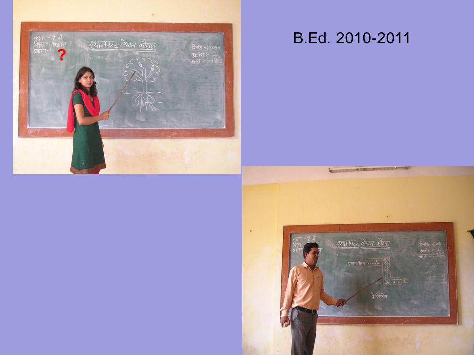 ? B.Ed. 2010-2011