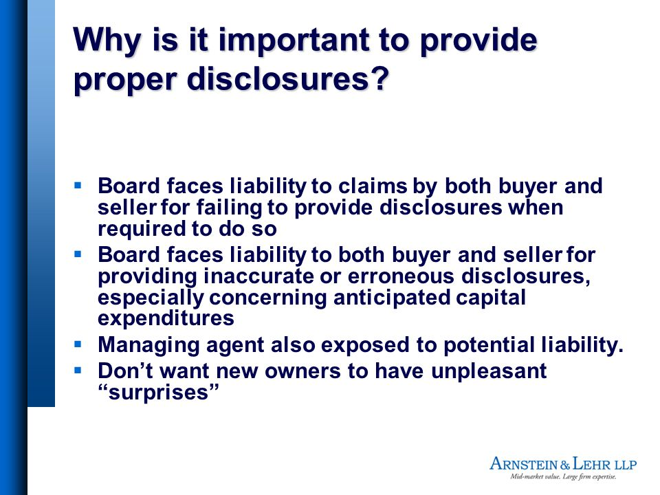 Why is it important to provide proper disclosures.