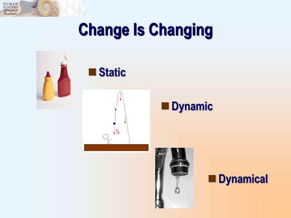 Change Is Changing Static Static Dynamic Dynamic Dynamical Dynamical