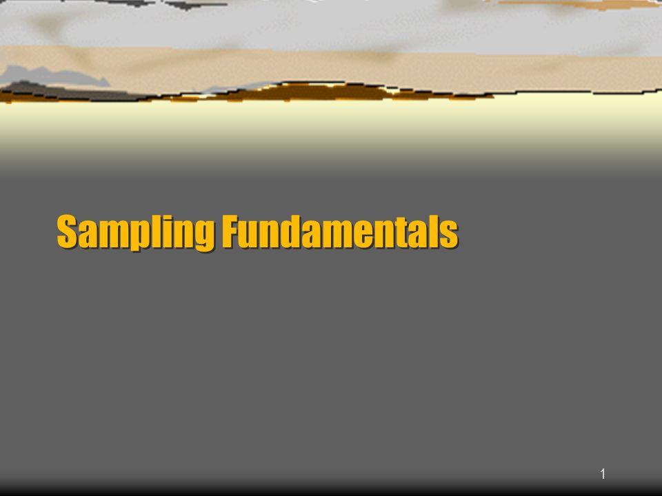 1 Sampling Fundamentals
