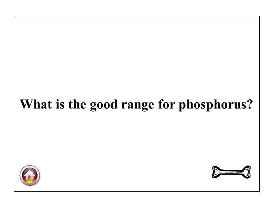 What is the good range for phosphorus?