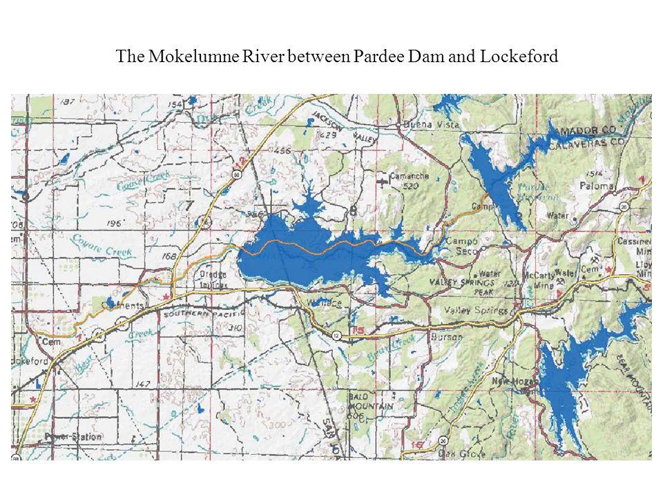 The Stanislaus River between Goodwin Dam and Riverbank The Tuolumne River between La Grange Dam and the Geer Road (j14) Bridge The Merced River between Crocker Huffman Dam and Cressey