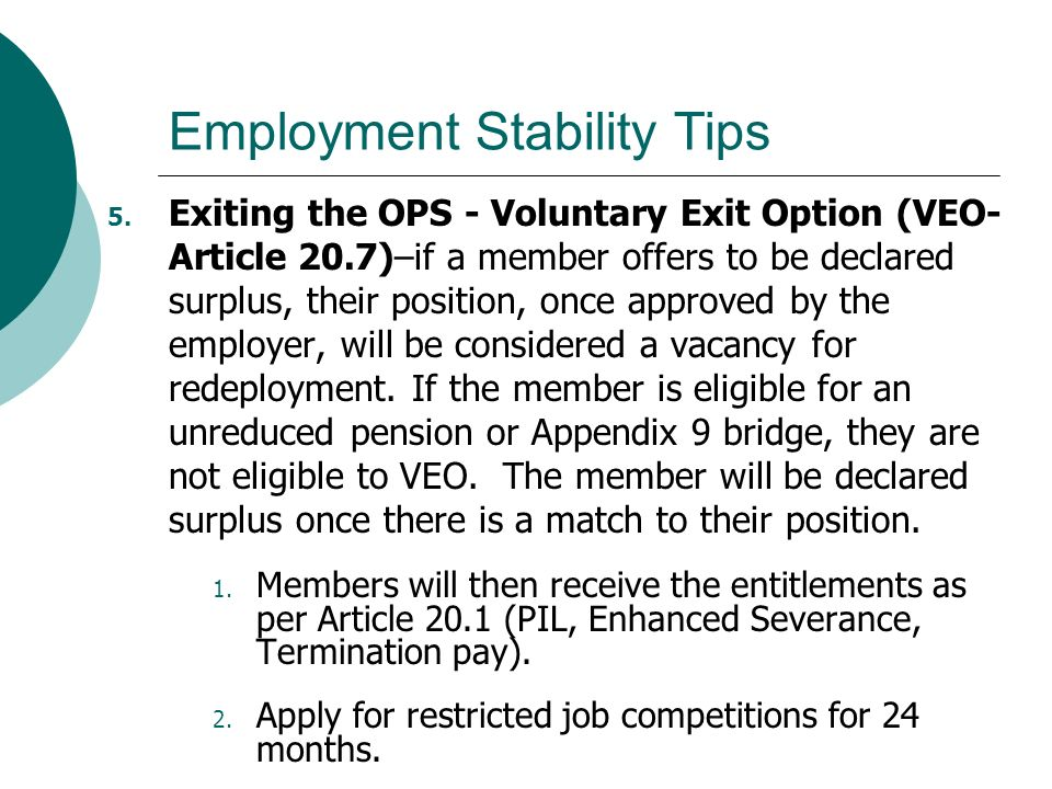 Employment Stability Tips 5.