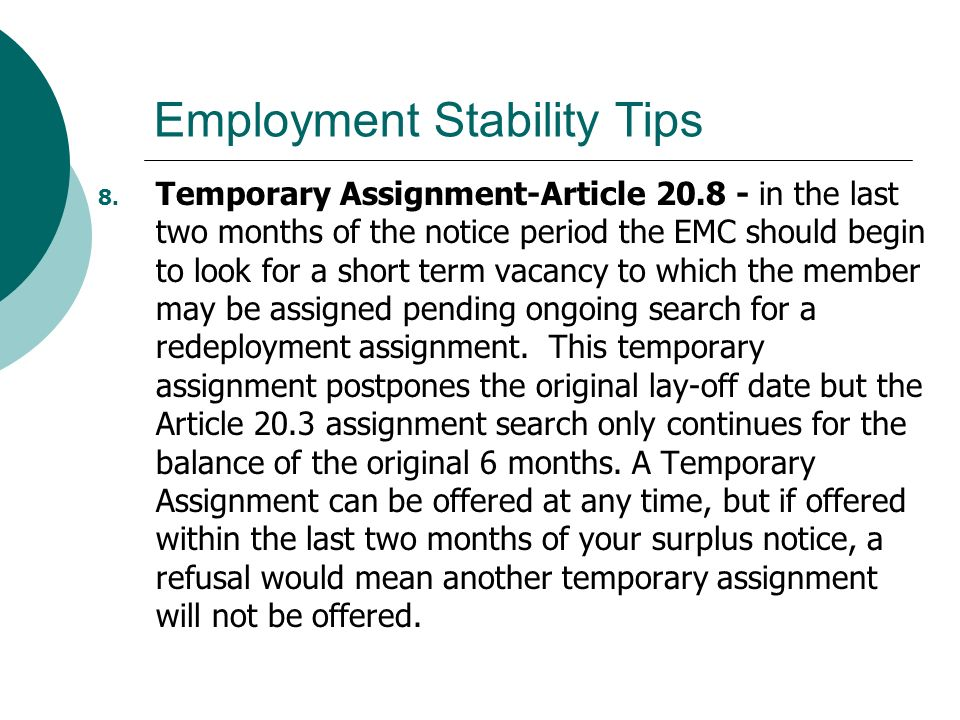 Employment Stability Tips 8.