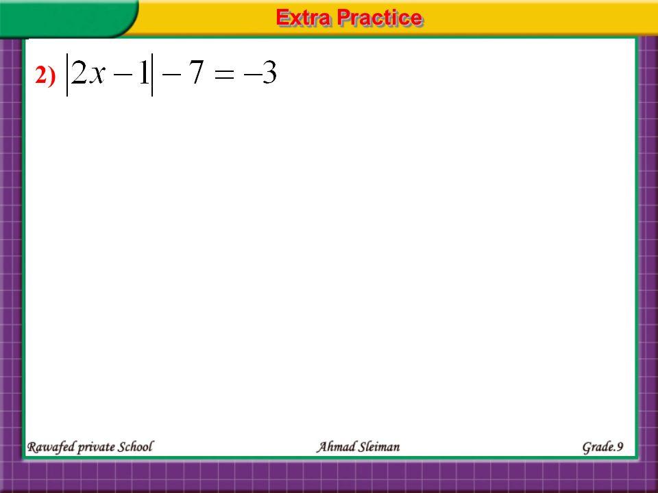 Extra Practice 2)
