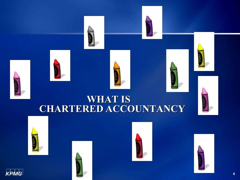 4 WHAT IS CHARTERED ACCOUNTANCY