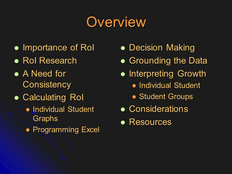 Grounding RoI When Monitoring Off of Grade Level: Two Options Best Practices in Setting Progress Monitoring Goals for Academic Skill Improvement (Shapiro, 2008).