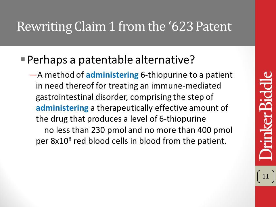 Rewriting Claim 1 from the 623 Patent Perhaps a patentable alternative.