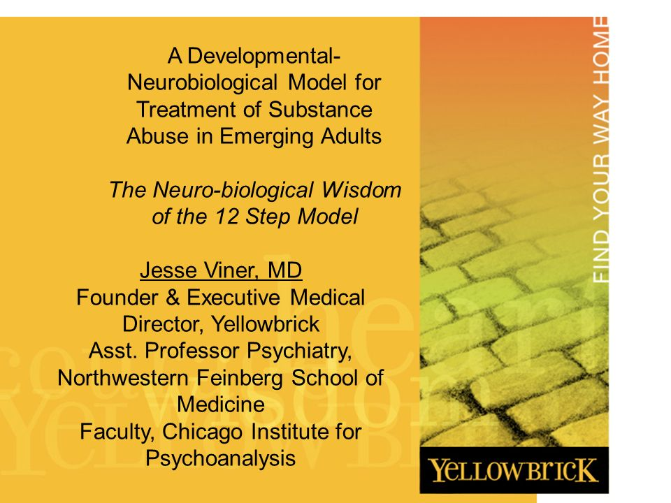 Presentation Title DATE HERE A Developmental- Neurobiological Model for Treatment of Substance Abuse in Emerging Adults The Neuro-biological Wisdom of