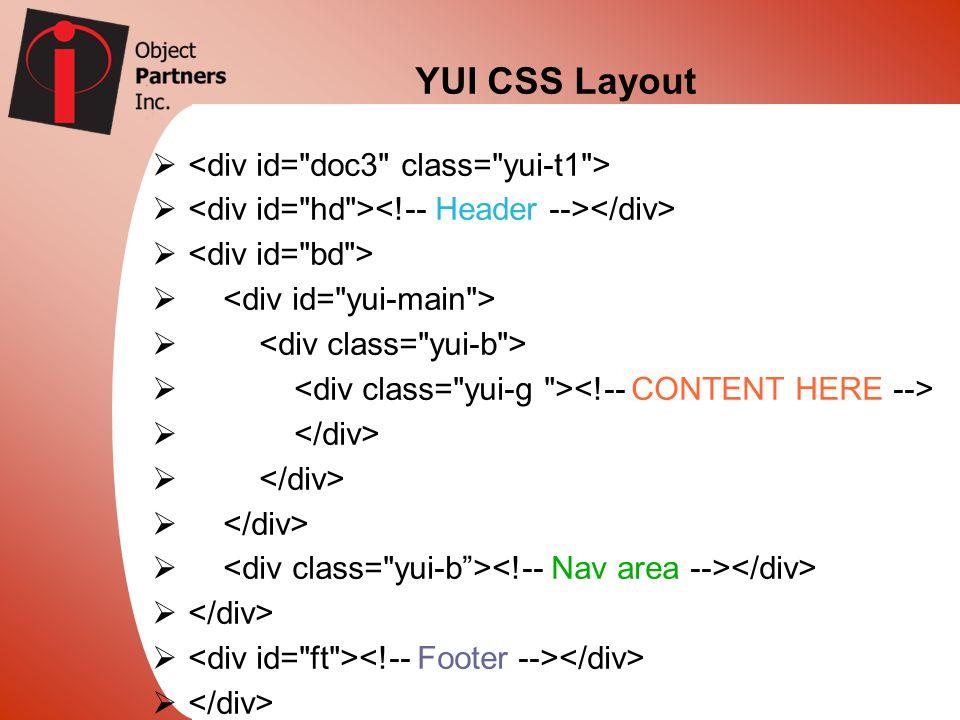 YUI CSS Layout
