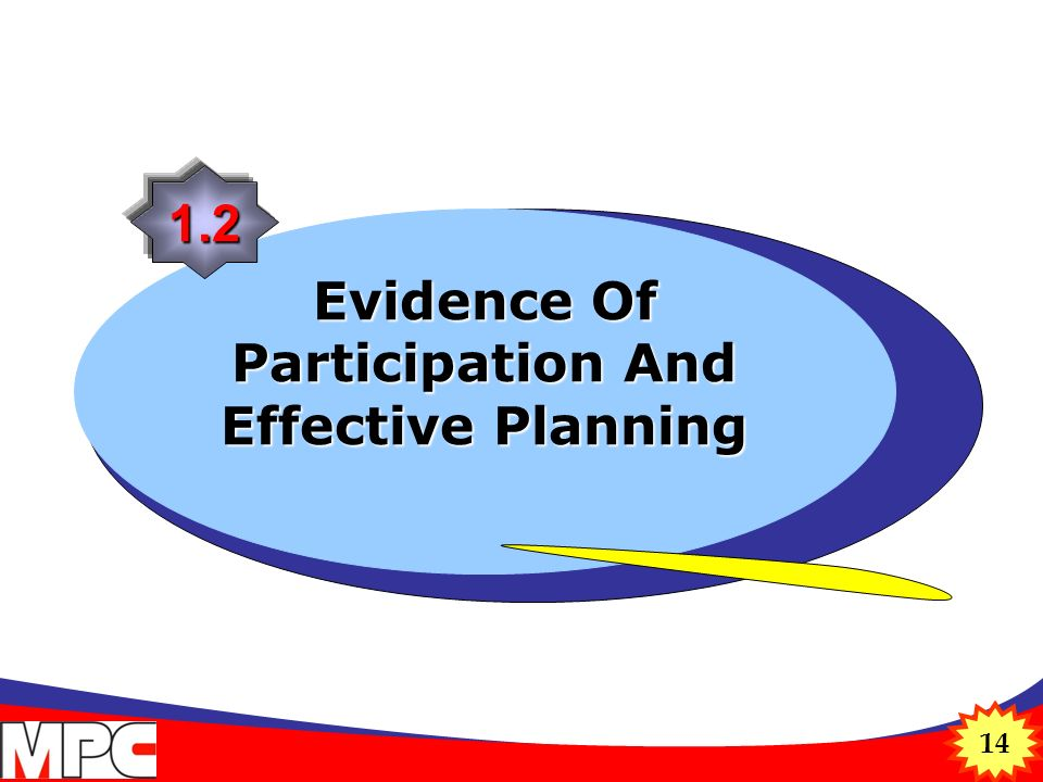 14 Evidence Of Participation And Effective Planning 1.2