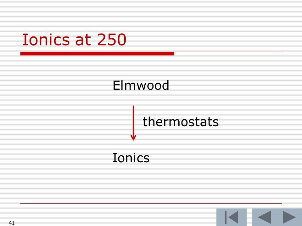 Ionics at 250 Elmwood thermostats Ionics 41