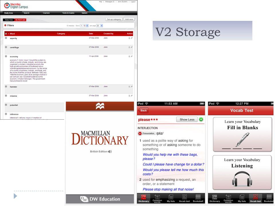 V2 Storage