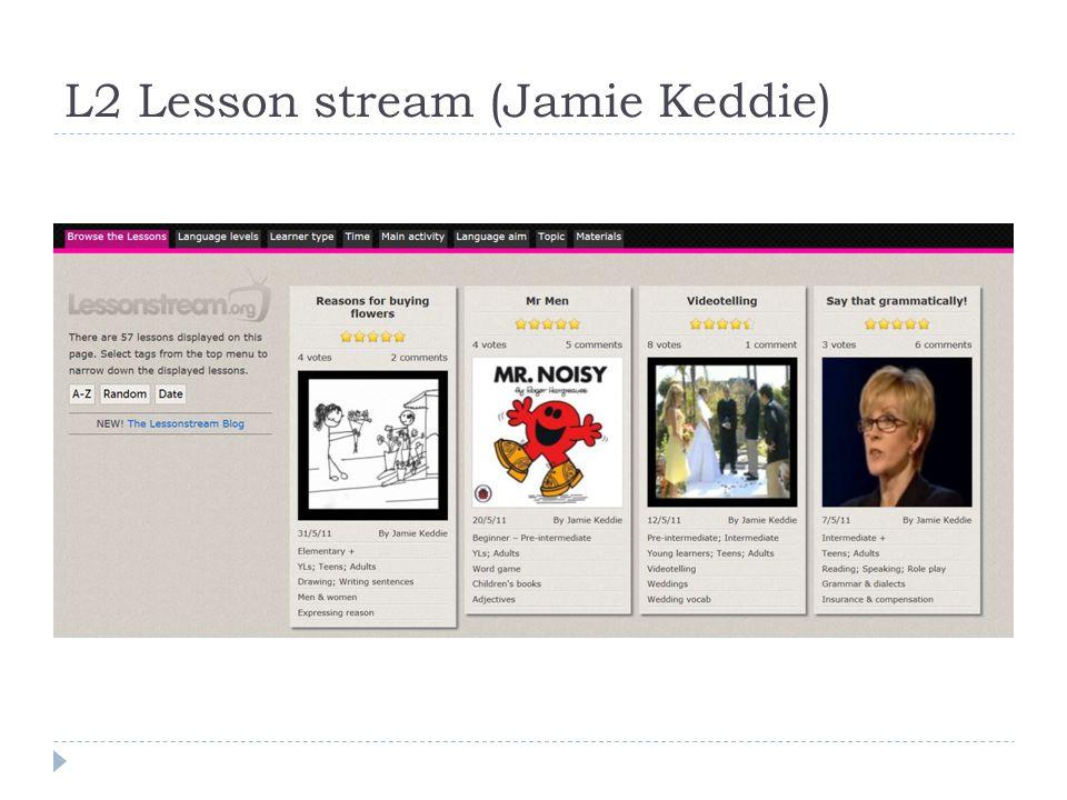 L2 Lesson stream (Jamie Keddie)