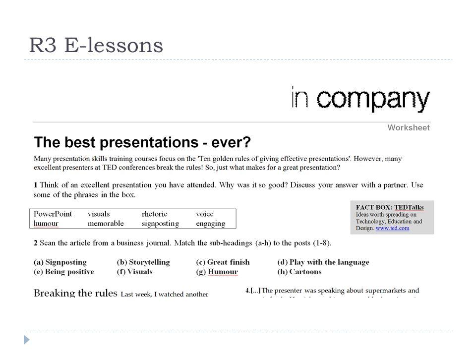 R3 E-lessons